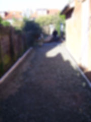 Preparing a driveways with Type 1 roadstone