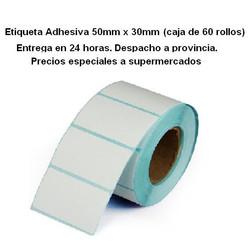Etiqueta adhesiva 50mm x 30mm