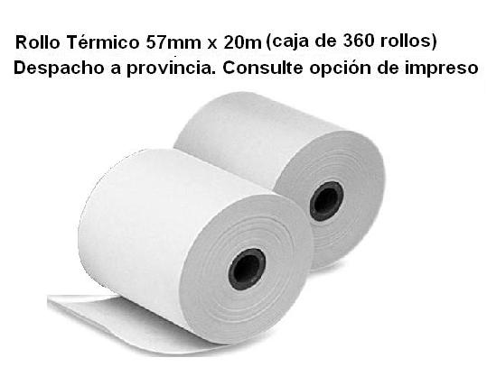 Rollo Térmico 57mm x 20m