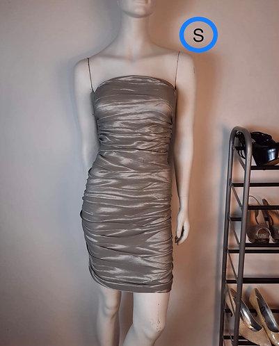 Robe tube gris lustré HKR, S