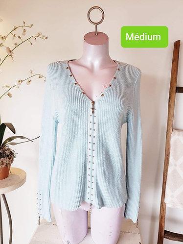 Veste bleu Mat collection M