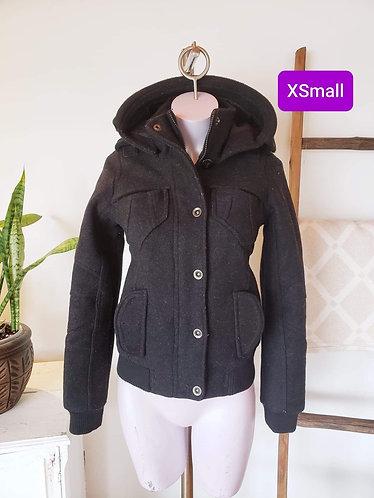 Manteau noir Twik XS