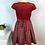 Thumbnail: Robe rouge velours 7-8 ans