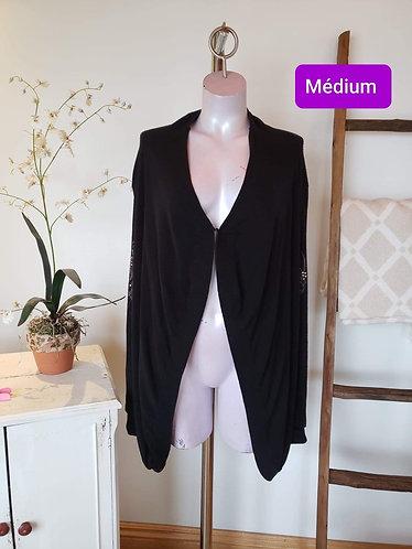 Veste ouverte noir Vitrin design M
