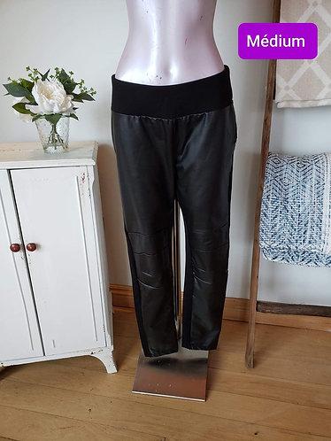 Pantalon cuirette noir Mille end M (10)