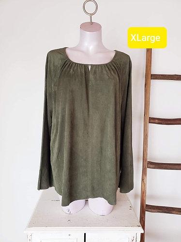 Chandail vert suédine (20) XXL