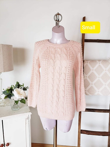 Chandail rose zip dos SWS S