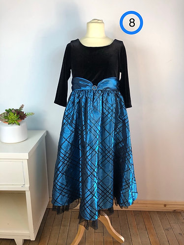 Robe bleu noir Jona Michelle 8 ans