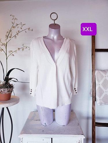 Veste ouverte blanc Tag XXL