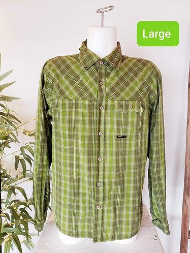 Chemise carreauté vert L