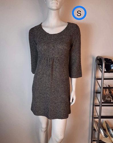 Robe lainage gris