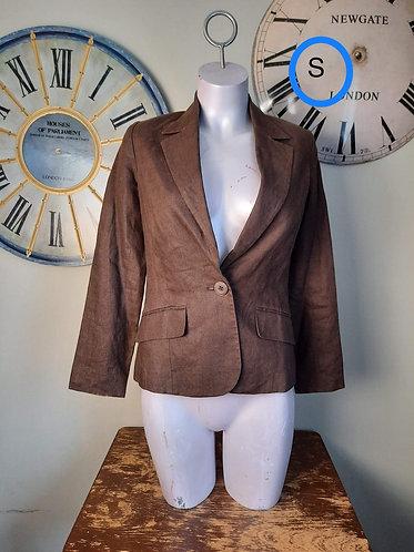 Veston brun style coton S