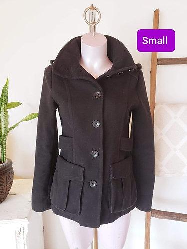 Manteau noir H&M (6) S