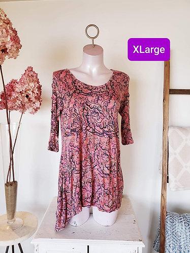 Haut rose motif Équinoxe XL