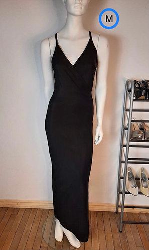 Robe noir cache-cœur H&G M