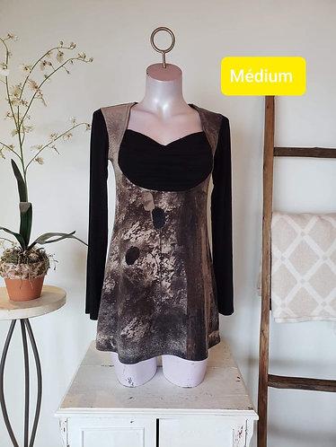 Chandail gris brun Kollontaï M