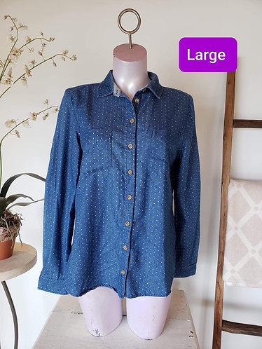 Chemise bleu à pois Twik L