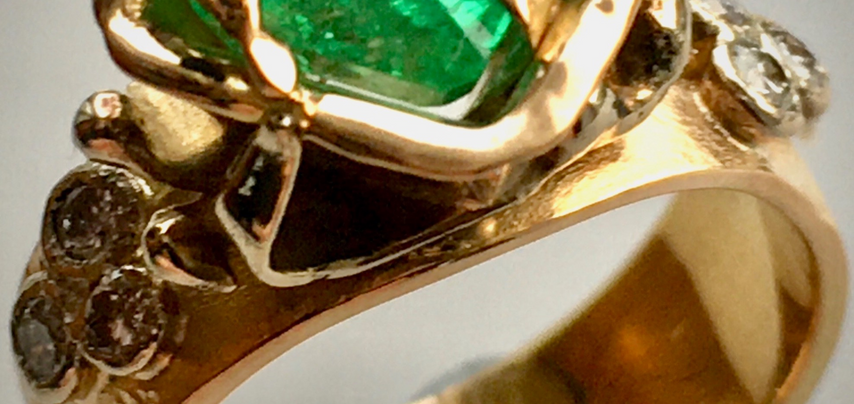 Commission Piece - 18Ct Yellow & white gold, emerald & diamonds