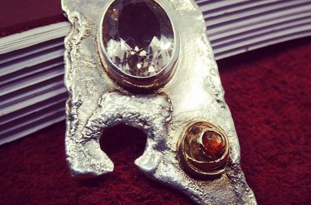 Marisco 'A tale from the Sea' - Silver,gold, rutile quartz & sunstone