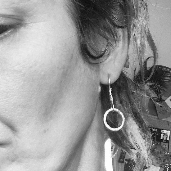 Battered Hoop Earrings