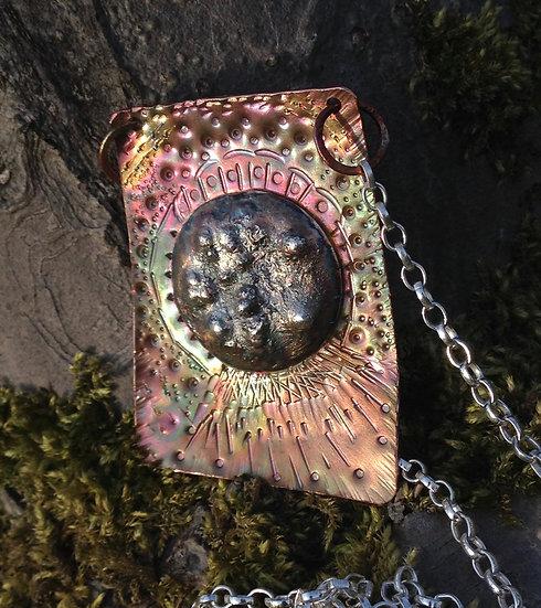 Copper & Silver Pendant