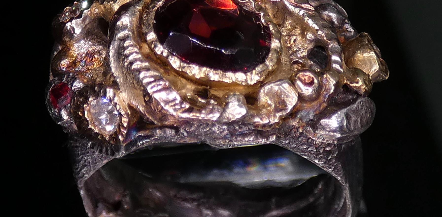 Commission Piece -Mixed carat gold, silver, diamonds & garnet