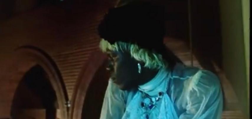 Yves Tumor, recording artist at Warp Records wearing multistone pendant