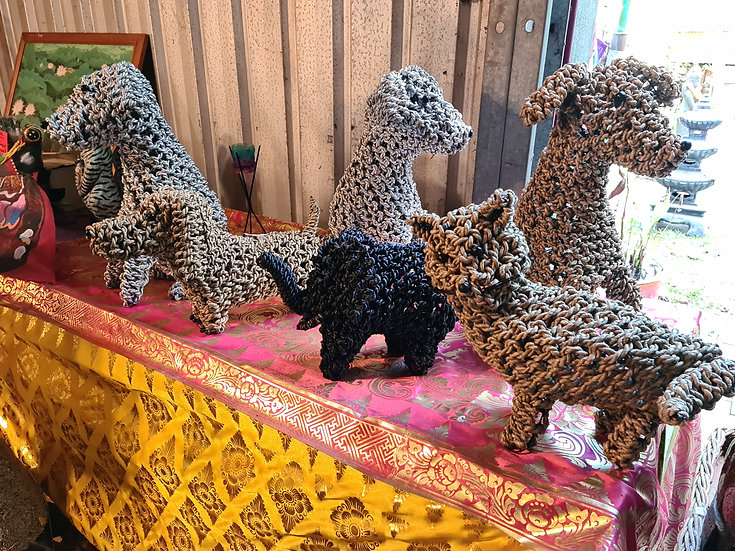 Hand Crafted Water Hyacinth Pets