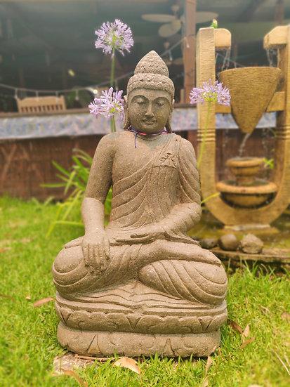 Greenstone Sitting Buddha
