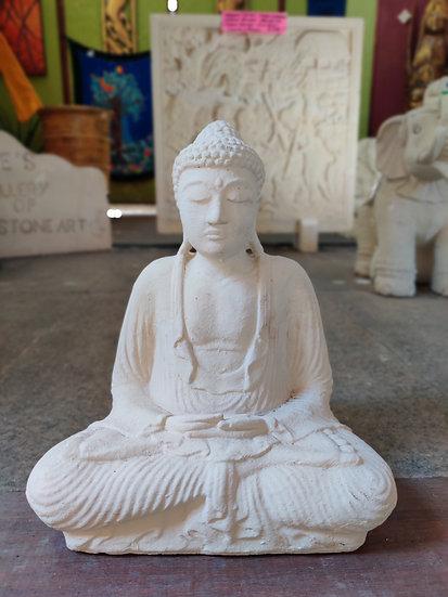 Composite Sitting White Buddha