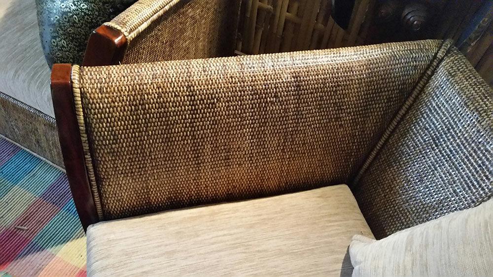 Cane And Timber Sofa Set Baligarden