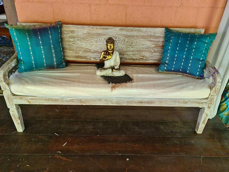 Aged Teak Bench Seat