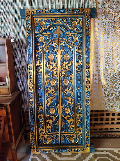 Traditional Balinese Blue Timber Doors