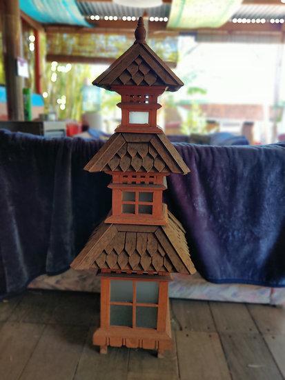Three Tiered Timber Glass Windowed Lantern