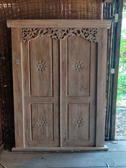 Balinese Double White-Washed Doors