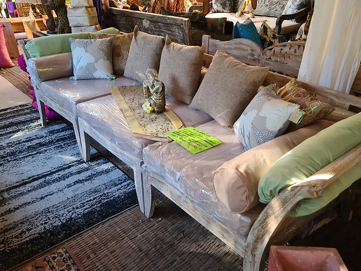 Solid 3 PieceTeak Daybed Contemporary