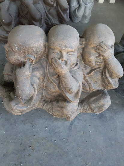 PREORDER - 3 Monks Statue (See no evil,Hear no evil, Speak no evil)
