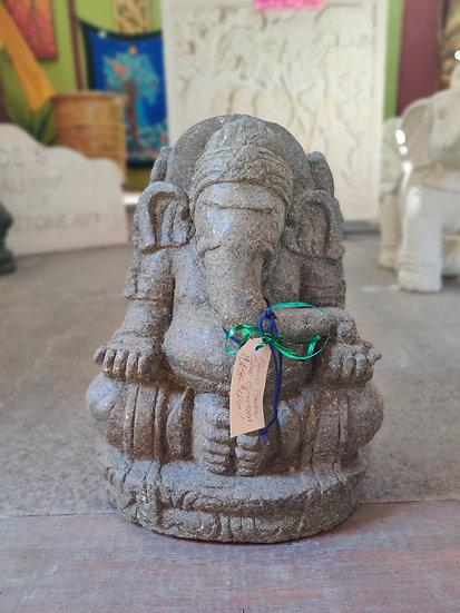 Greenstone Sitting Ganesha