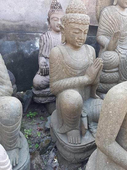 PREORDER - 1.1m Sitting Buddha Solid Greenstone