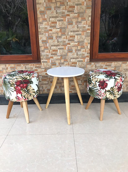 PREORDER - 3 Piece Balcony Setting (Table & 2 Stools)