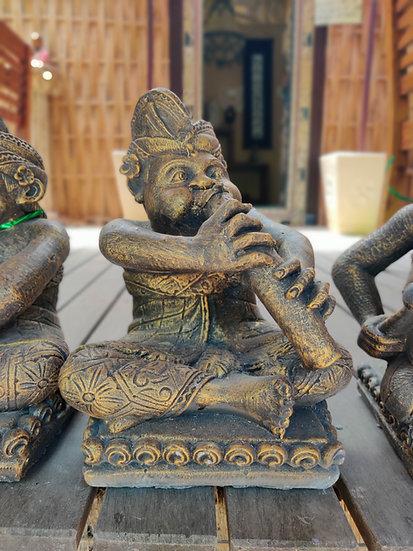 Composite Gold Gamelan Musicians Statues