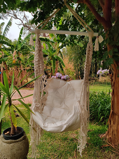 White Rope Chair Swing