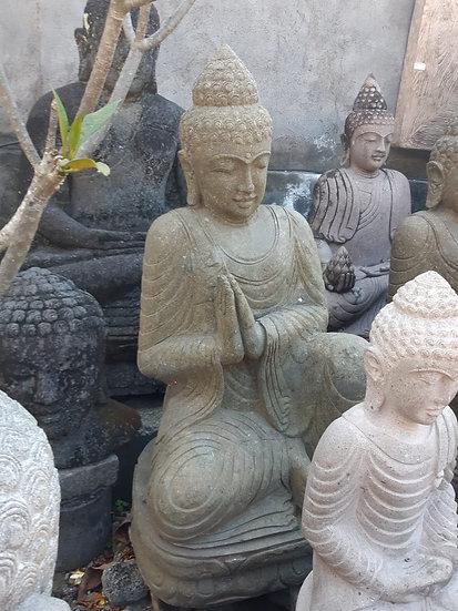 PREORDER - 1.2m Sitting Buddha Solid Greenstone
