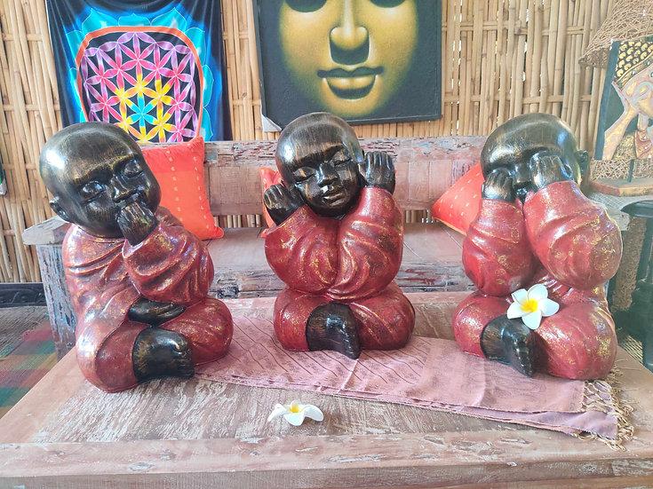 See Hear Speak No Evil Monk Statues