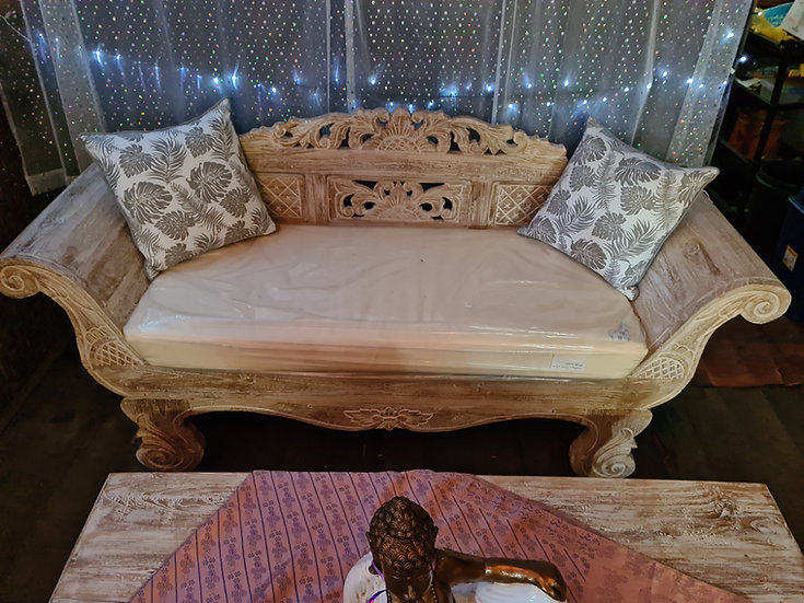 2 Seater Solid Recycled Teak Daybed