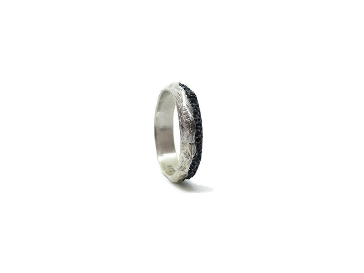 Tiny eroded ring band