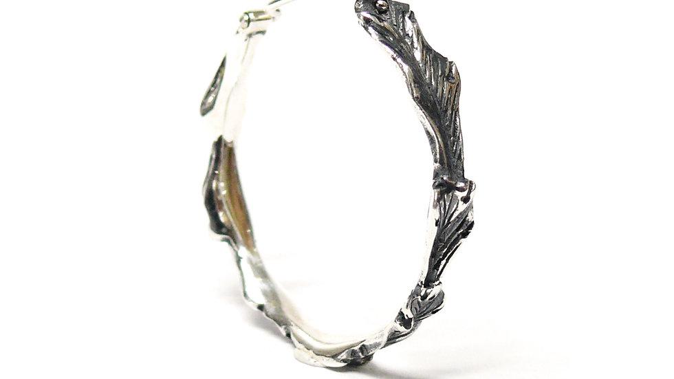 Acanthus large hoop earring
