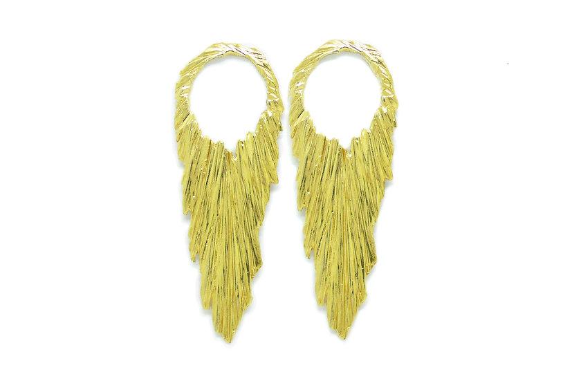 Golden atena earrings (single piece)