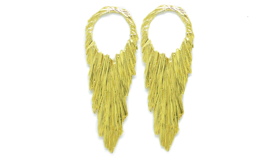 Golden atena earrings (single piece)