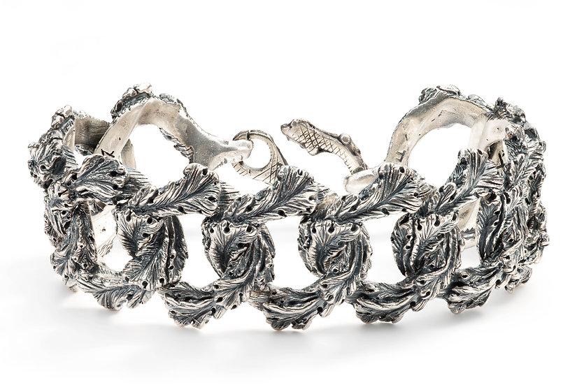 Acanthus groumette chain bracelet / choker